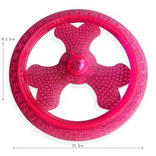 Outdoor green soft TPR Dog Frisbee Pet Tooth with light