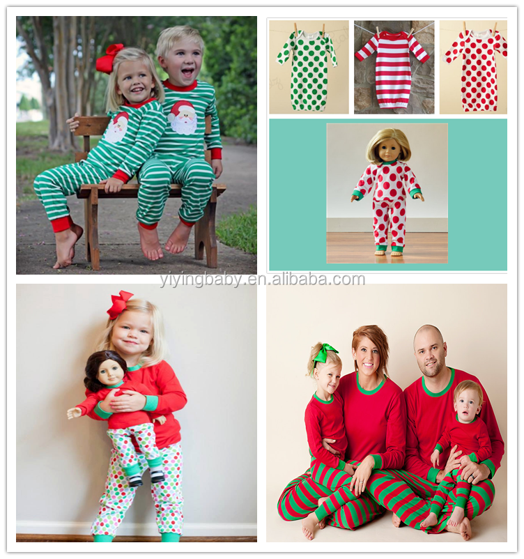 Christmas Pajamas Red Green Baby Children Toddlers Kids Christmas ...