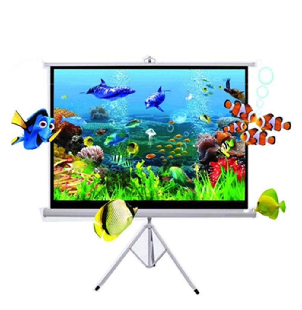 Yanyuwen 84 Inches Projector Screen Portable Movies Screen,4:3 Outdoor Portable Screen, High-End Table Screen Portable Outdoor Learning Entertainment Movie Micro Projector Screen
