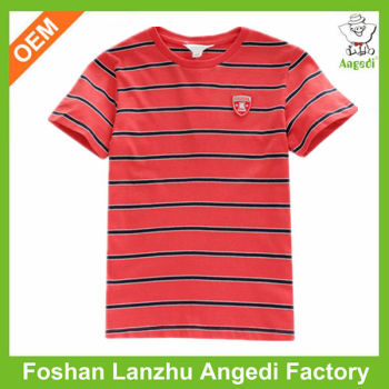 Wholesale Used Clothing Bright Color Stripe T Shirt Outlet