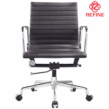 true danish design black leather modern swivel executive charles