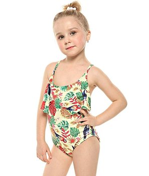 Little Girls Floral Swimwear Cross Back One Piece Swimsuit ...