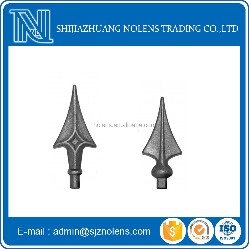 cast iron spear tips/Ornaments Spear Points iron Fence Spear/decorative iron products castings and forgings