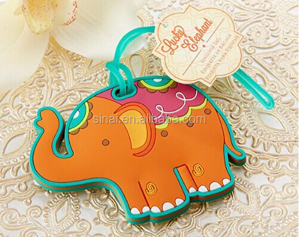 Wedding Favors Lucky Elephant Luggage Tag
