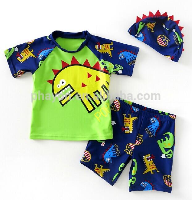 alta calidad lo mas baratas tienda oficial 2014 bebé lindo traje de baño de dinosaurios de impresión ...