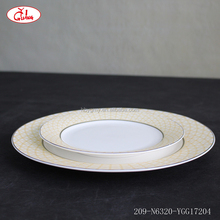 Round shape full decor villeroy and boch dinnerware set with gold rim and colorful decor YGG17204
