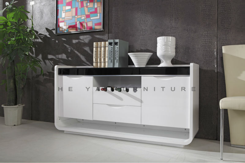 Contemporary Mdf Kitchen Cabinet/white Buffet Sideboard