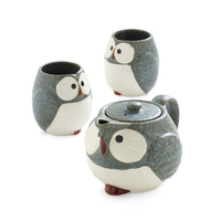 Lovely night owl porcelain tea pot ceramic tea pot set