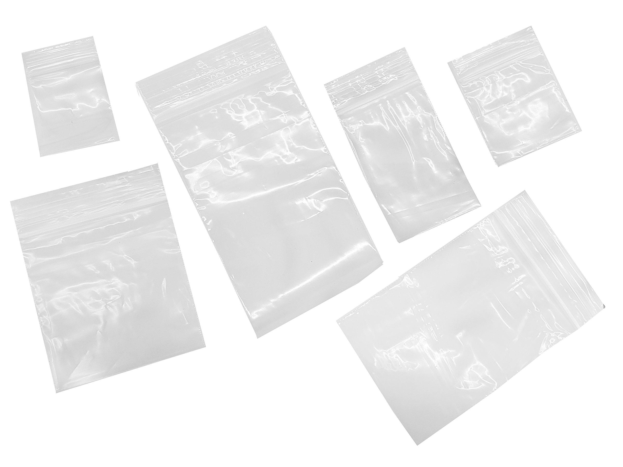 Plastic Bags Clear Ziplock Bags 7 Sizes 100 Pieces of Each Size 3.5x5 3.5x5 4x6 5x7 6x9 7x10 8x12cm Total 700 Pieces