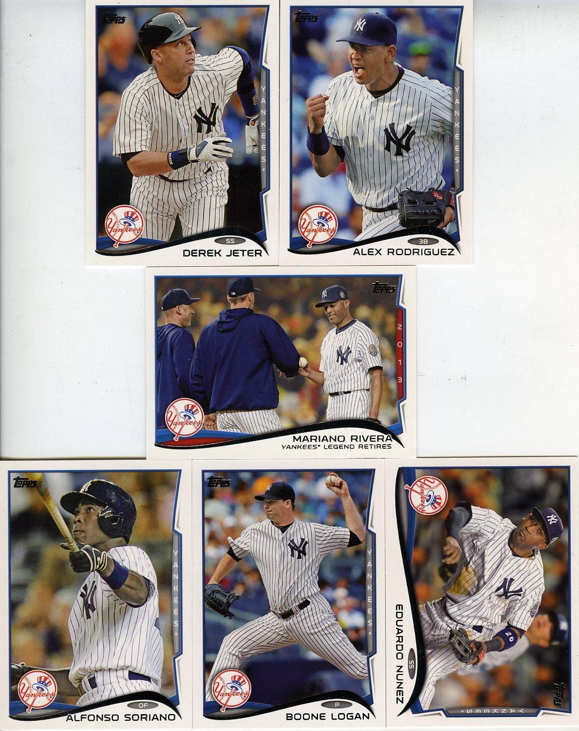2014 Topps Baseball Cards - New York Yankees - Team Set (Series 1)