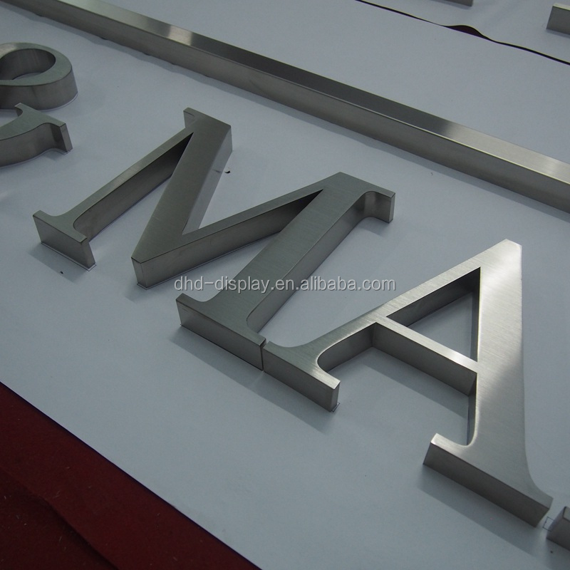 Laser cut seamless weld stainless steel letters, stainless steel logo, stainless steel sign