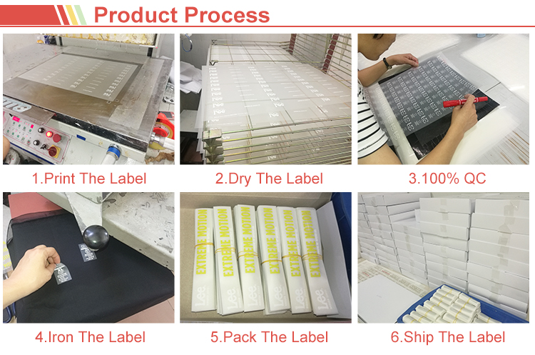 Prohibited substance tested fine water based ink tagless printing heat transfer size label