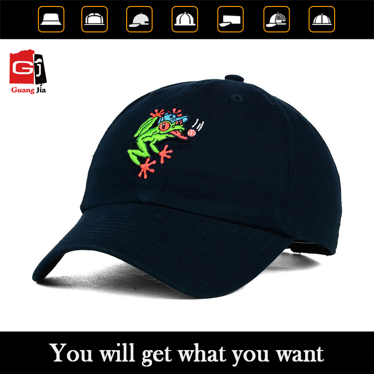 Promotional 3d embroidery strapback 6 panel children cap wholesale
