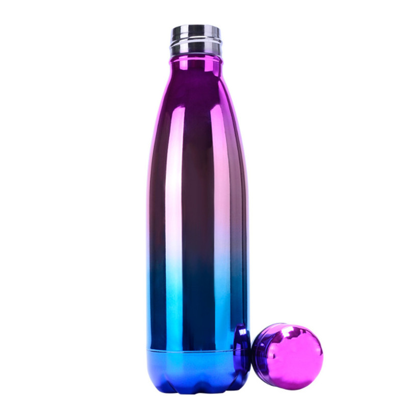 Creative Cola Shape Plating Stainless Steel Wholesale Vacuum Cola Bottle Tumbler