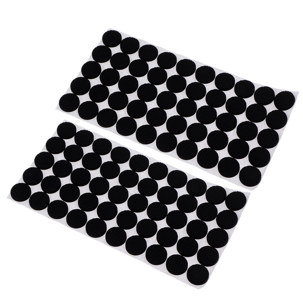 MonkeyJack 100 Pieces Multifunction Black Self Adhesive Furniture Leg Table Chair Sofa Feet Floor Non-slip Mat Sticky Pad Rubber Floor Protector Pads Anti-Skid Scratch