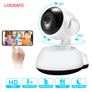 LOOSAFE Wireless IP Camera 720P HD smart WiFi Home Security Infrared Night Vision Video Surveillance Camera Baby Monitor