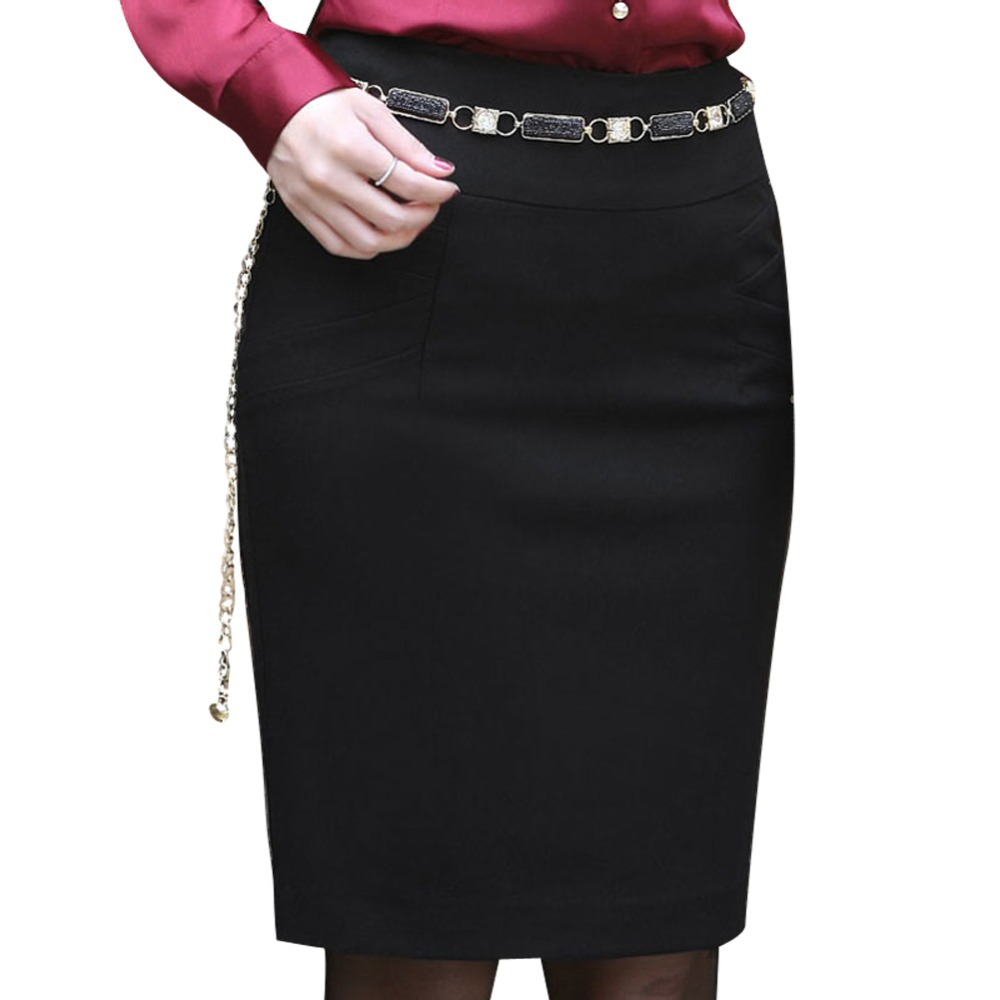 92f090c0744 Get Quotations · Office Lady Black Skinny Skirts Fashion Women Work Skirt  Size S-3XL All Match Lady