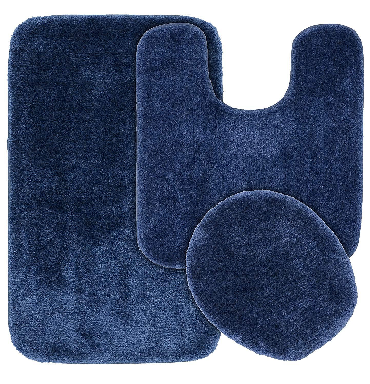 Dark navy blue bath rugs epdm flexible hoses
