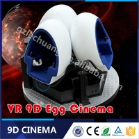 Top Quality Small Invest High Return Project 9D Virtual Reality Egg Theatre Cinema With VR Glasses
