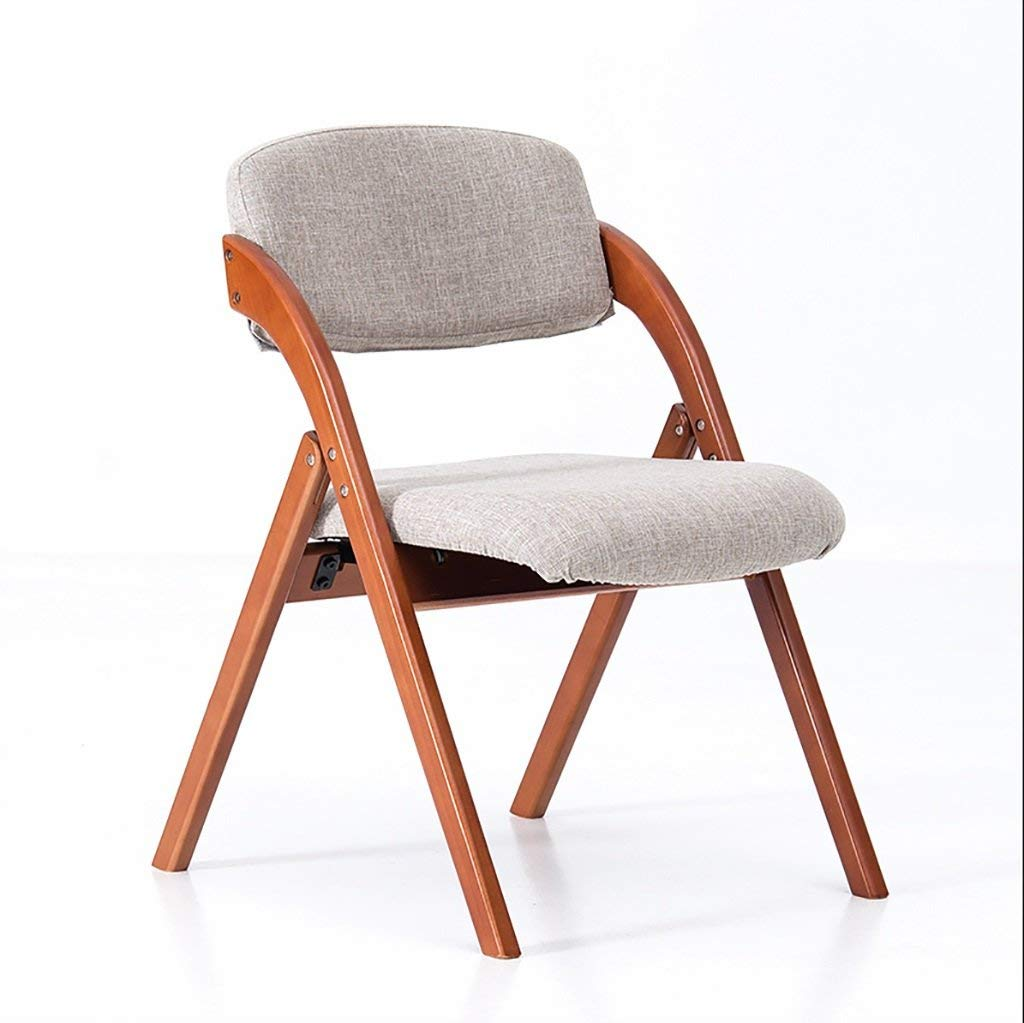 fold up chairs Dining Chair Simple European-style cotton chair Creative folding leisure chair Solid wood folding chair can be washable Folding Chairs (Color : C)