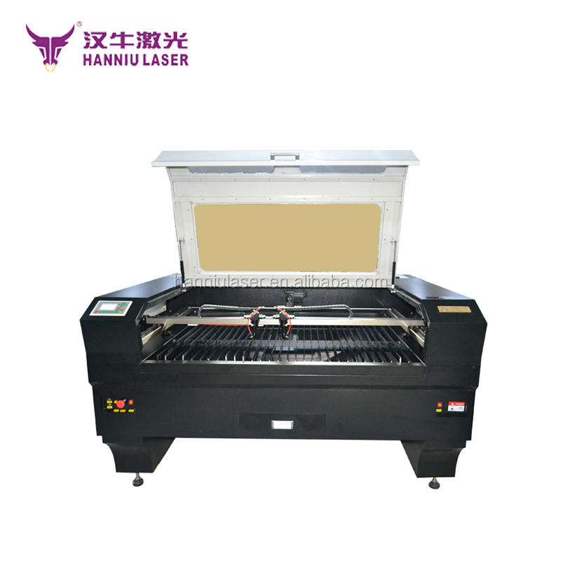 Hanniu K1390 laser engraving cutting machine co2 paper/leather/cloth/fabric automatic laser cutting machine