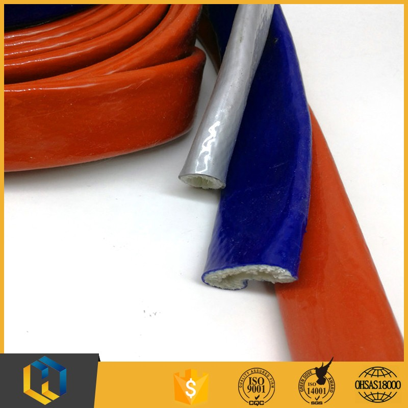 Hot selling vco silicone coated glass fiber fire sleeve for wholesales