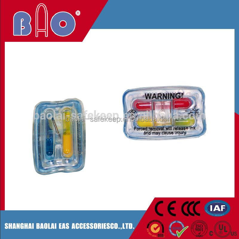 Trade assurance security hard ink tag for expensive clothes with low price