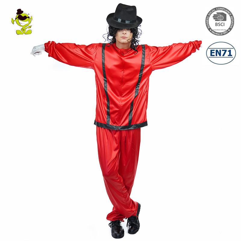 Michael Jackson Smooth Criminal Cos Suit Uniform Cosplay Costume Full Set Hat