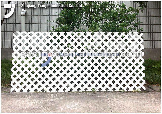 Blanc en plastique treillis cl tures treillis et portails for Portail en plastique