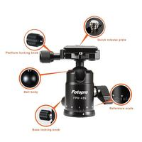 Fotopro best sale aluminum photo moving ball head for tripod head camera 42Q