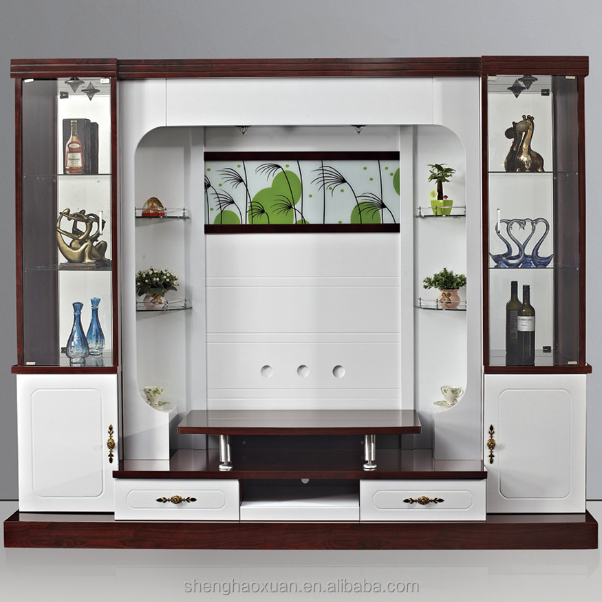 Living Room Cabinet Design In India: Shx Design Living Room Tv Set Furniture 9905# Led Tv Wall