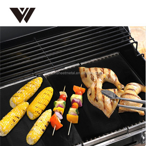 Amazon best seller 2 PCS 100% Non-Stick BBQ Grill Baking Mat Oven Microwave Barbeque cushion/Sheet high temperature grill mat