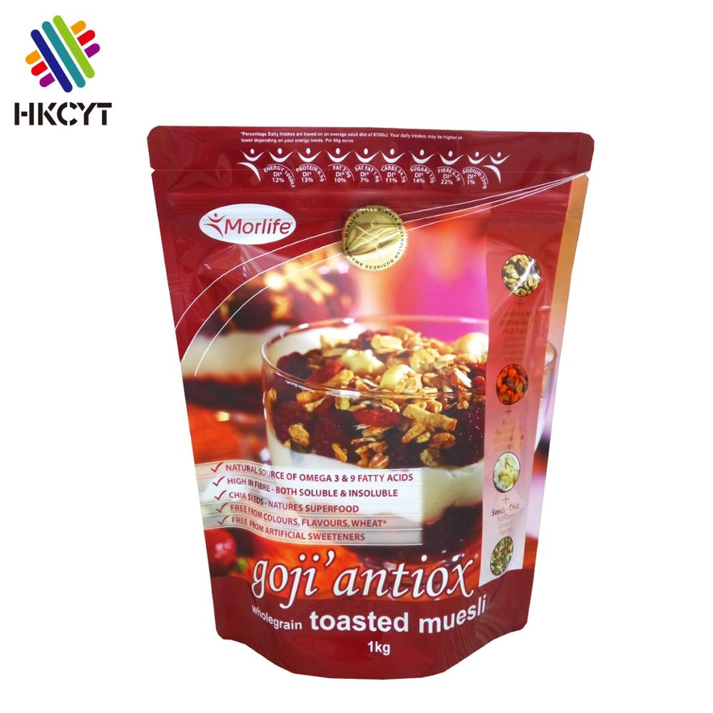 Stand up pouch for dried fruit/aluminum foil plastic bag