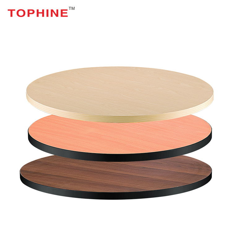 Commercial Contract TOPHINE Furniture Teak Wooden Table Top Malaysia Wood Table Top For Restaurant