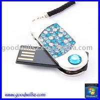 2gb 4gb 8gb flash drive Rotate jewel stone USB Flash Drive