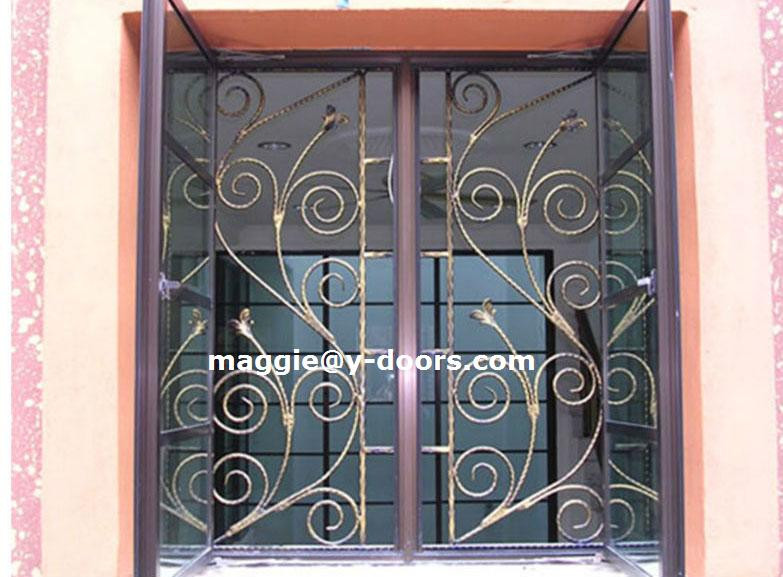 D corative en fer forg moderne s curit design fen tre de for Modern zen window grills design