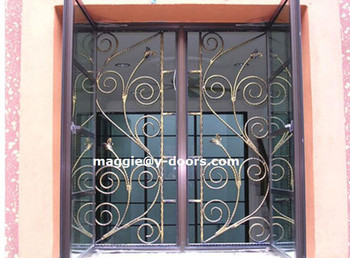 Decorative Wrought Iron Modern Security Window Grill
