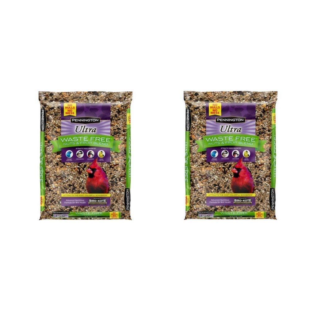 Pennington Bird Feed and Seed Nuts & Fruit Blend Waste Free, 2.5 OZ(2 Pack)