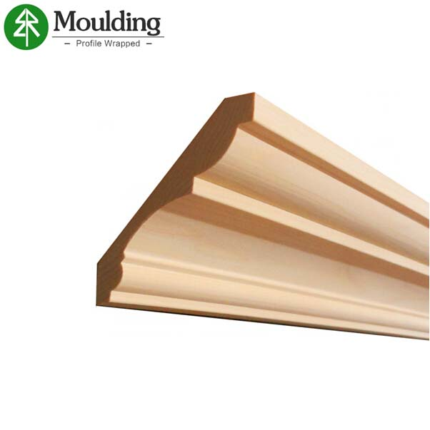 China customized decorative wood ceiling cornice moulding