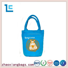 Zhaoxiang 2016 new style fabric canvas tote blue shopping bag