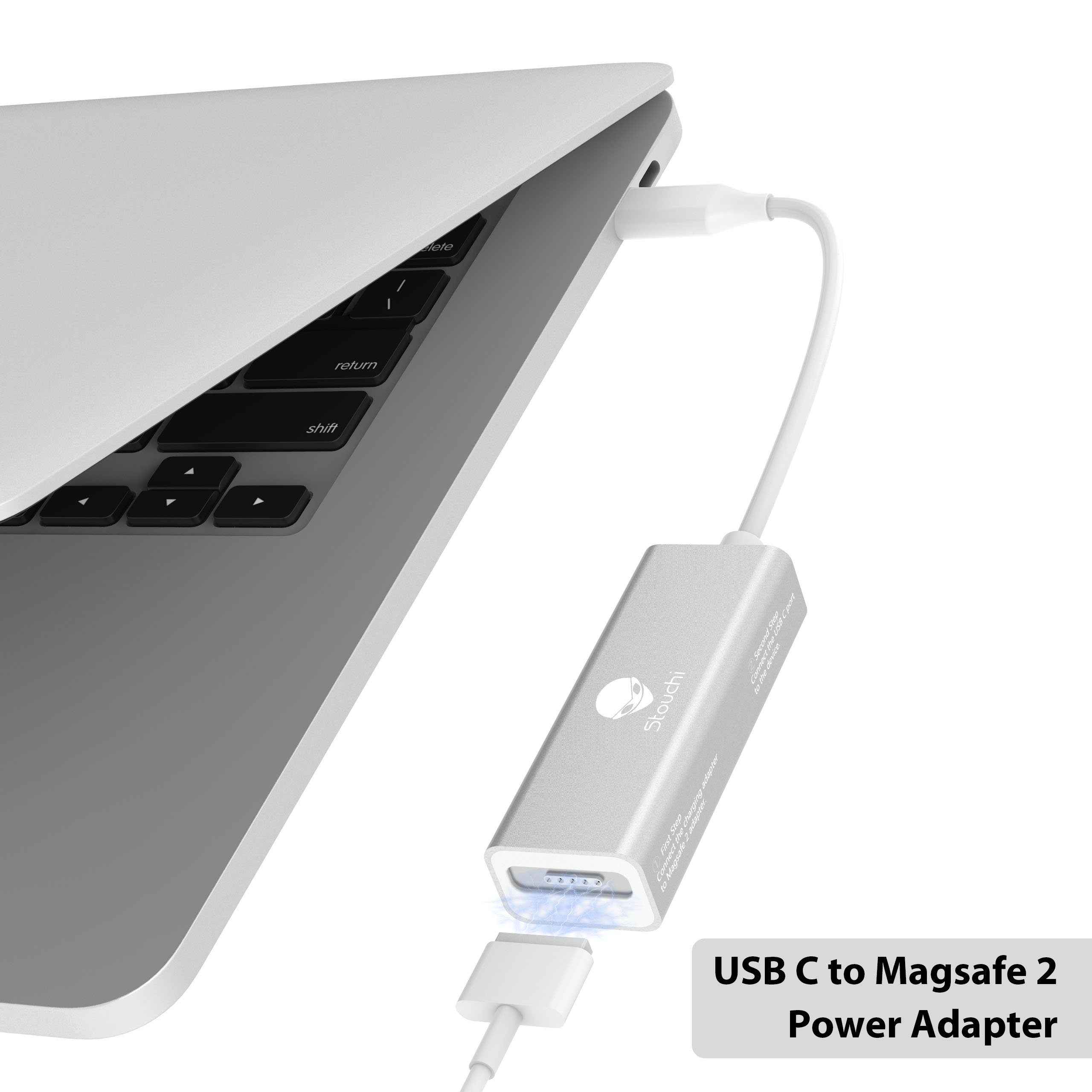 """Magsafe 2//1 to USB Type C Charging Converter Adapter for Macbook 12/"""" 13/"""" 15/"""""""