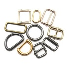 Wholesale Metal D ring buckles Clasp DIY Leather Craft garment clothes Luggage Sewing handBag purse D Rings