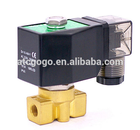 0-90bar brass 12v dc high pressure 24v 110v 220v solenoid valve for cng