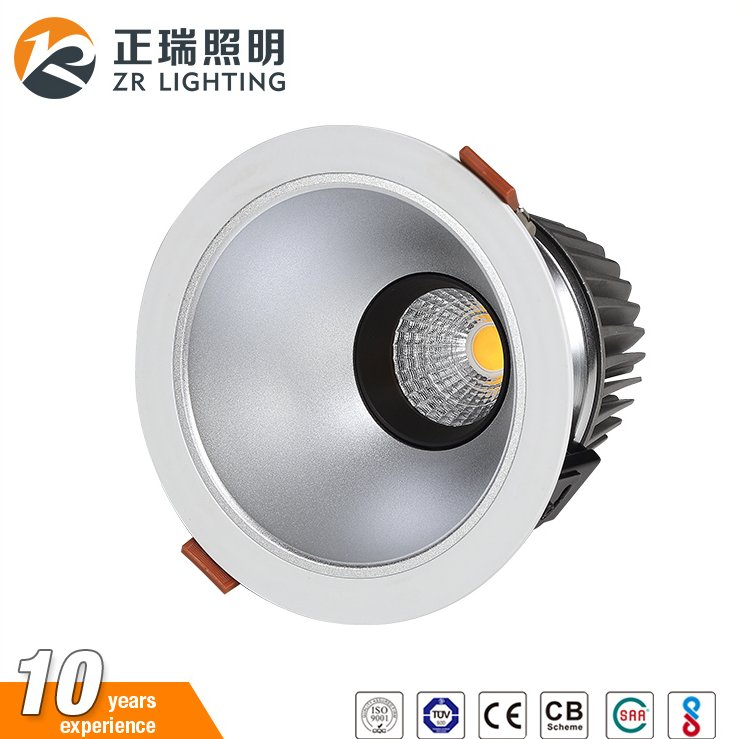 China manufacturer wholesale high lumen high power 12W 20W 30W dimmable recessed led downlight