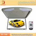 slim model 15.6 inch wide screen bus flip down dvd player overhead monitor with mp3/mp4 media player
