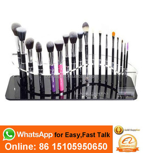 branded mac minerals flawless face foundation makeup brush display facial brush cosmetic display
