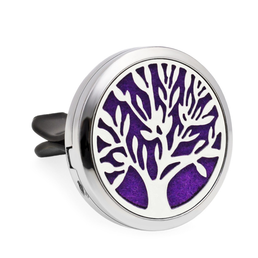 Tree Of Life 30 มิลลิเมตร Diffuser Locket Vent Clip น้ำมันหอมระเหยน้ำมันหอมระเหย Diffuser Locket