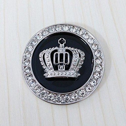 Crystal Princess Crown Car Emblem, Car Exterior & Interior Bling Car Accessory, Auto Decoration Decal Sticker, Car Bling Accessories For Women, Rhinestone Crown Emblem, Bling Car Decor