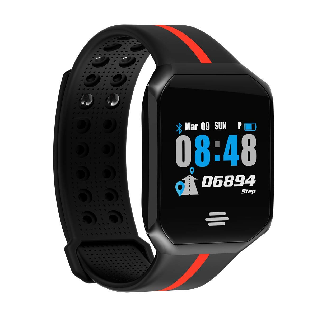 Smart Watch, Sports Fitness Tracker, Day Activity Tracking + Fitness(Heart Rate/Blood Pressure/Sleep) Tracking + Multi-Function JYou App(Bluetooth Remote Control Smartphone)