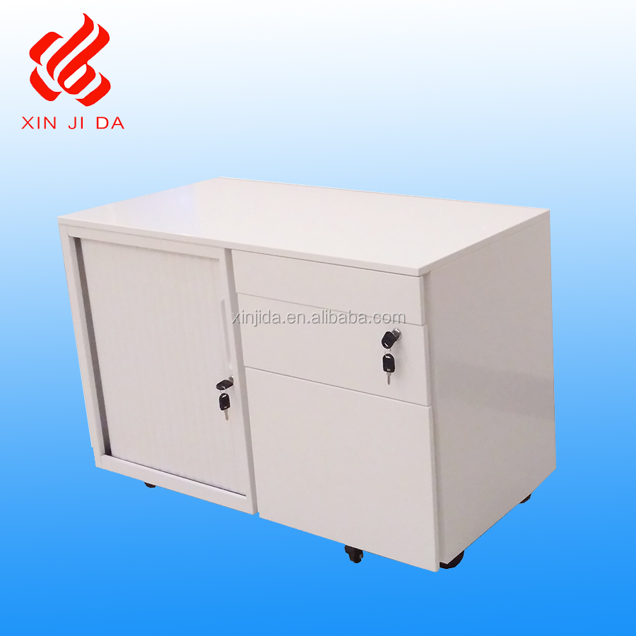 China office furniture factory roller sliding door steel filling <strong>cabinet</strong> with 3 drawer mobile pedestal <strong>cabinet</strong>